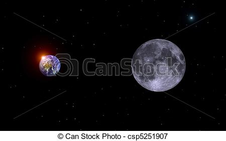 Cosmos clipart earth moon Art moon cosmos on Free