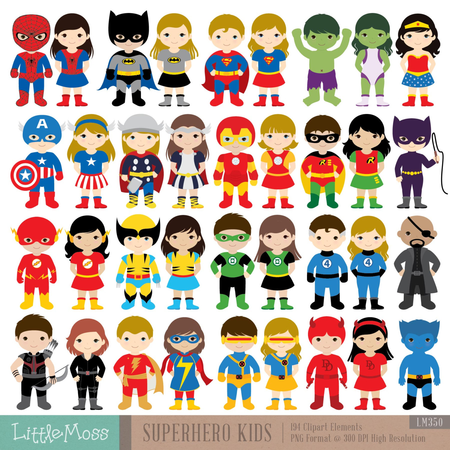 Spiderman clipart for kid Cosplay Clipart Super Kids Superheroes
