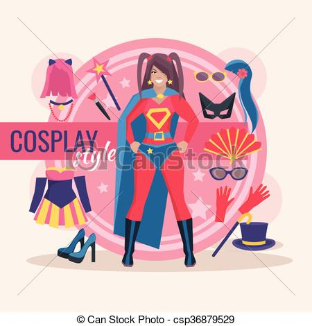 Cosplay clipart Girl of For Pack Character