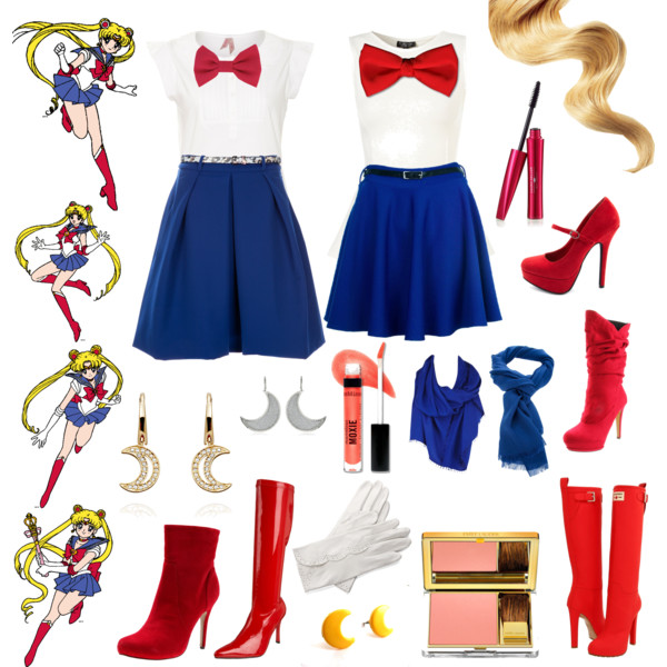 Cosplay clipart Moon white length shirt from