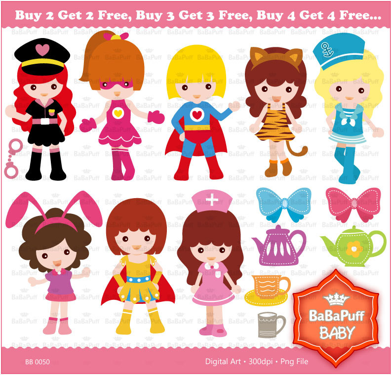Cosplay clipart BB Free Personal 2 Girls