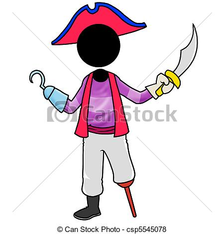 Cosplay clipart Silhouette man Stock Stock pirate