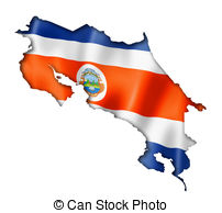 Costa Rica clipart Costa three Art flag Illustrations