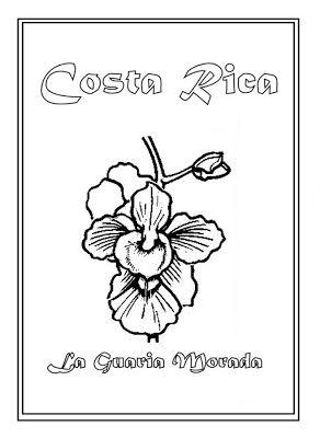 Costa Rica clipart La Morada Colorear Nacional best