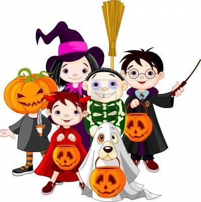 Costume clipart Treating Photo images trick Stock