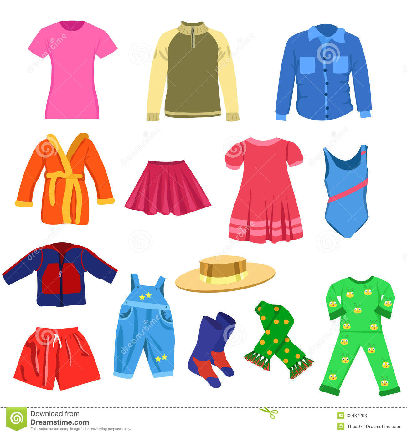 Background clipart clothes #4