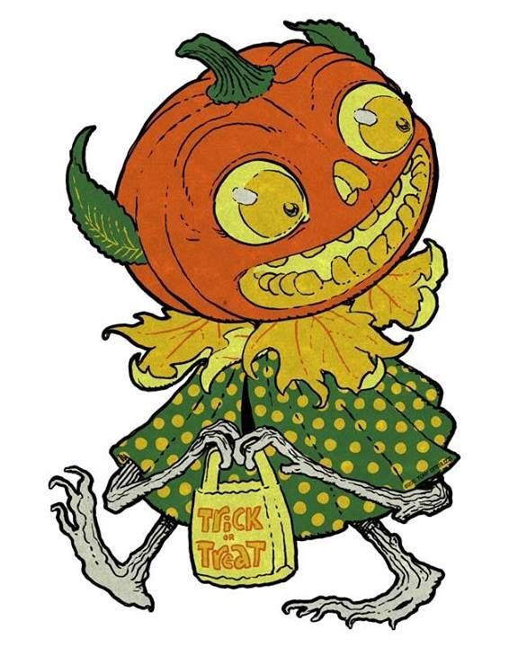Costume clipart ghoul Retro head pumpkin image pumpkin