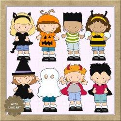 Costume clipart halloween child Children Art Graphics Shoppe Clip