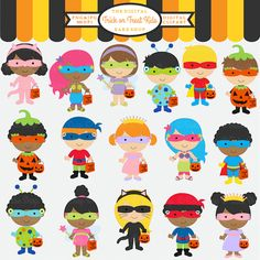 Costume clipart halloween child Clipart children in to costumes