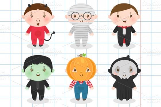 Costume clipart halloween child F Design ~ Creative Halloween