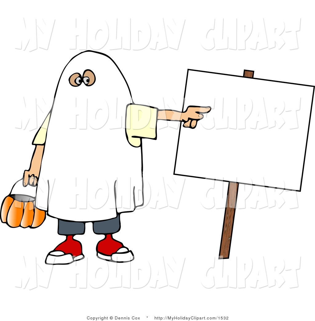 Costume clipart halloween ghost A Wearing Blank Ghost Clip