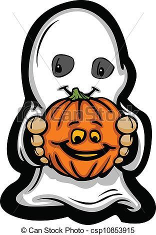 Costume clipart halloween ghost Cute Halloween Kid Cartoon Art