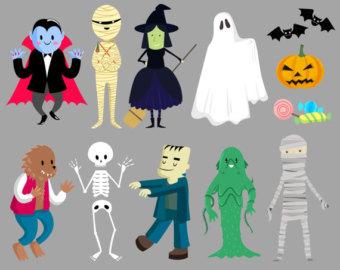 Costume clipart halloween ghost Halloween collection costume clipart clipart