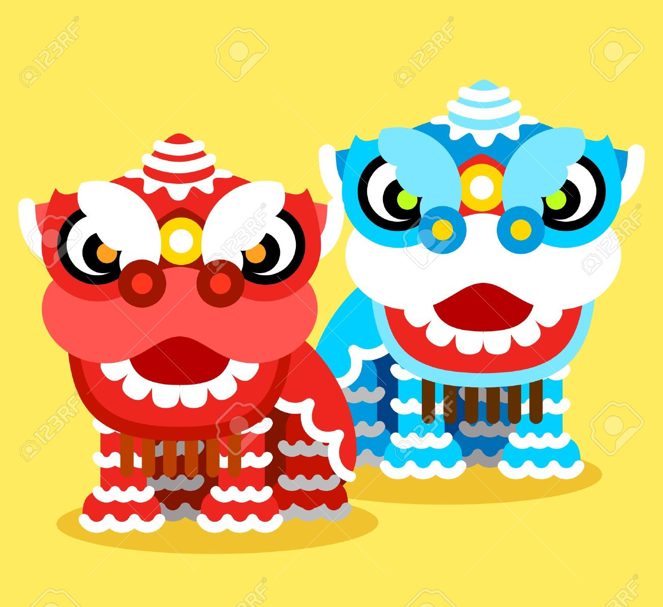 Costume clipart lion dance ThingLink Year Chinese  New