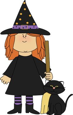 Witchcraft clipart witch cat Black Clip Black Cat Cartoon