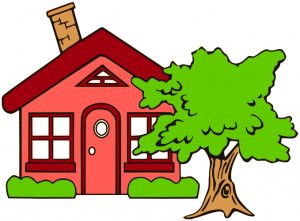 Cottage clipart hous Art Cottage Clip Tree Cottage