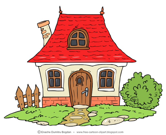 Cottage clipart hous Cartoon Thatched Free Clip Clipart