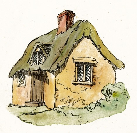 Cottage clipart hous Roof Thatched Thatched Art com