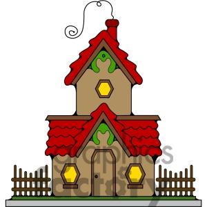 Cottage clipart christmas cottage Christmas Cottage Art Clipart