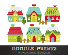 Cottage clipart christmas cottage  Free Graphics Art Clip