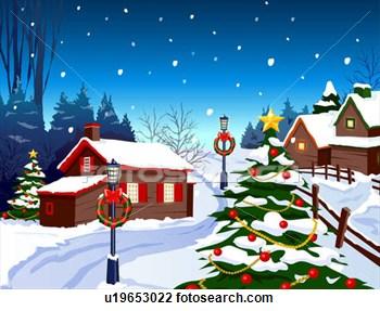 Cottage clipart christmas cottage Christmas Cottage  Clipart