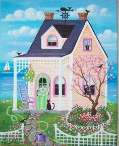 Cottage clipart coming home Cottage Magnolia casas art ventanas