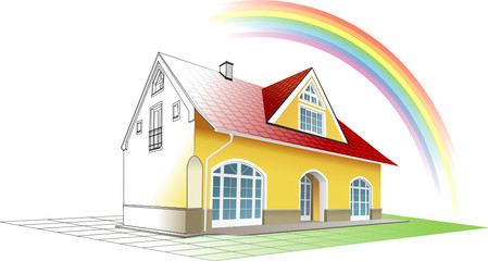 Cottage clipart coming home Coming Dream clipart by colorful