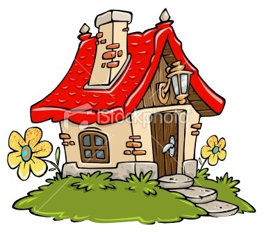 Cottage clipart fairytale cottage Vector Cartoon love images Pinterest
