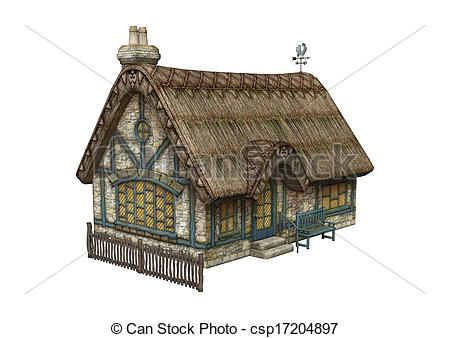 Cottage clipart fairytale cottage A csp17204897 Fairytale  3D