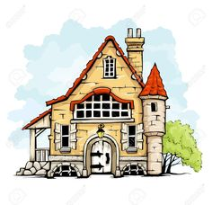 Cottage clipart fairytale cottage Castle on Vectors House Fairytale