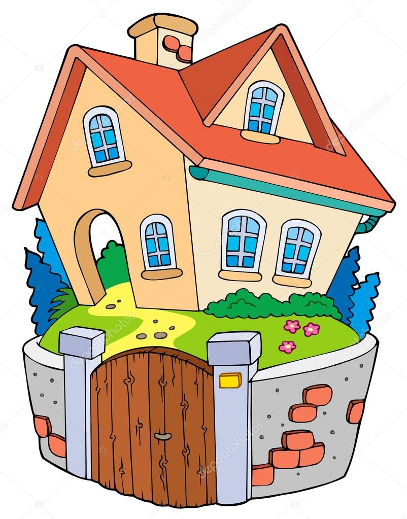 Cottage clipart thing — house family illustration #3946964