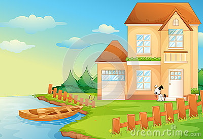 Cottage clipart lake cabin Cottage Clipart cliparts Lake Cottage