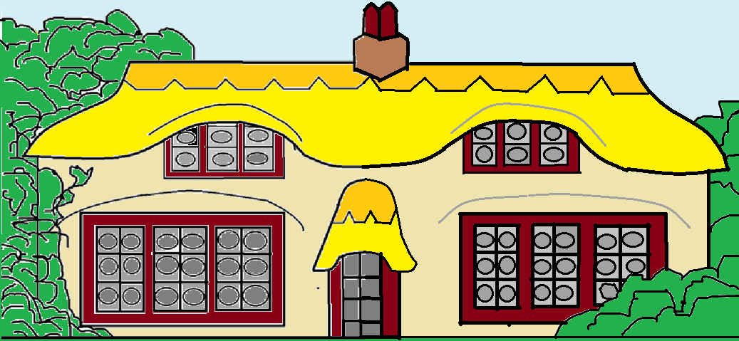 Cottage clipart thatched  Free com Thatched vector