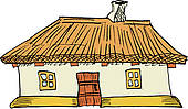 Cottage clipart thatched Cottage Free  GoGraph Art