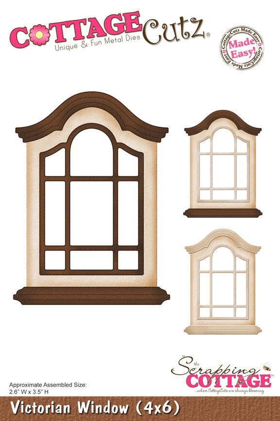 Cottage clipart windoor (4x6) Window CottageCutz Victorian Victorian