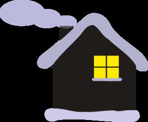 Winter clipart winter cabin Clip Winter Cottage Winter Cabin