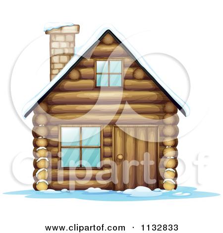 Winter clipart log cabin Snow clipart cottage clipart cottage