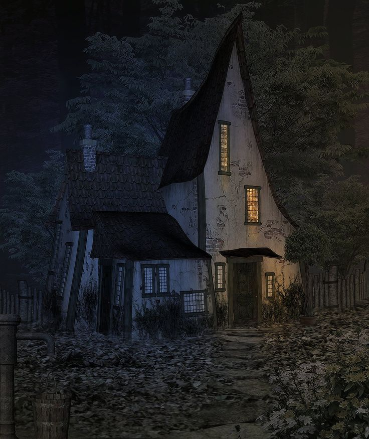 Cottage clipart witch house CottageWitch Abandoned HouseSpooky best 25+