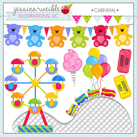 Carneval clipart roller coaster Summer Park Clipart Art Amusement