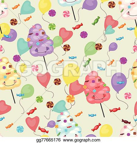 Drawn lollipop  cotton baby Vector sweets