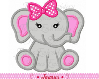 Cotton Candy clipart elephant NO:2211 Baby quilt Applique For