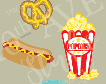 Carneval clipart hot dog SVG/PNG/EPS Carnival~Movies~Fair files cut (