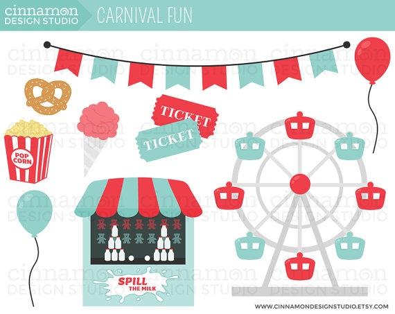 Carousel clipart county fair Ferris fair Set Personal art