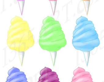 Cotton Candy clipart green Art Carnival Clip Candy –