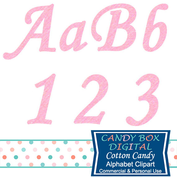 Cotton Candy clipart pink Use Etsy Alphabet Pink