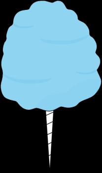 Candy clipart cotten Blue Clip Cotton Candy Art