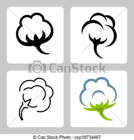 Cotton clipart Csp18734467 Vector Vector icons Art