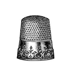 Coture clipart black and white Art Thimbles  Files: Sewing