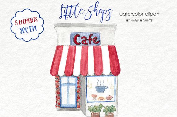 Coture clipart clothes Watercolor Shop Watercolor Chocolatier Front