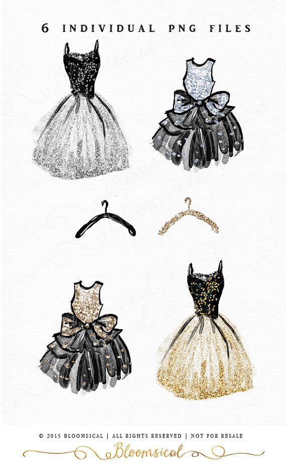 Coture clipart clothes  Party set: Glitter com/au